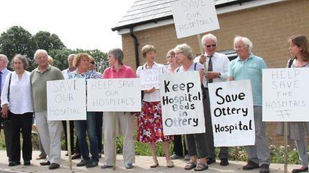 Save Our Hospitals- protesters at Newcourt Communtiy Centre this week. Ref sho 4585-29-15SH. Picture
