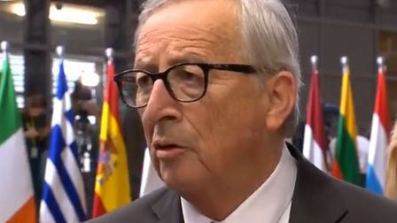Jean-Claude Juncker talking to assembled journalists in Brussels. Picture: BBC