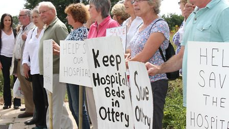 Save Our Hospitals- protesters at Newcourt Communtiy Centre this week. Ref sho 4589-29-15SH. Picture