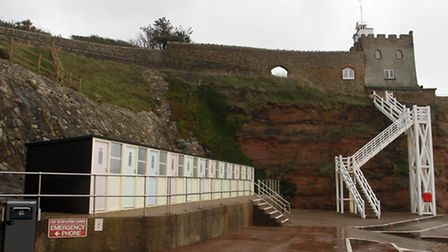 Sidmouth's beach huts. Ref shs 0839-03-15TI. Picture: Terry Ife