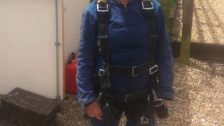 Barbara Mence has currently raised £600 of her £1,000 target from her second sky dive.