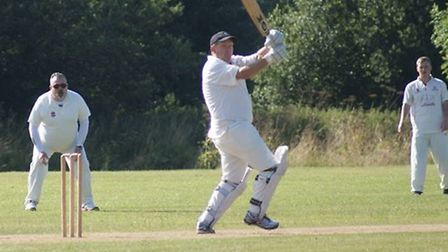 Steve Walker on his way to his highest score for Tipton St John