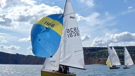 Scorpion racing off Sidmouth