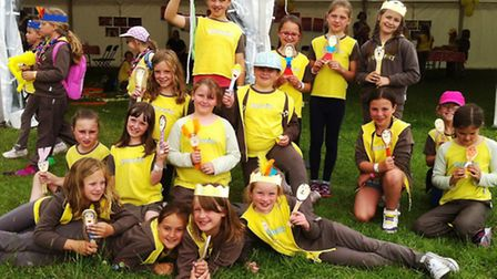 Sidford Brownies at Cookafest 2015, an annual event for all South West Rainbows Brownies and Guides
