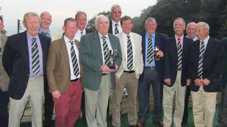 Sidmouth B team who retaiend the Jurassic Cup with a two-leg victory over Axe Cliff