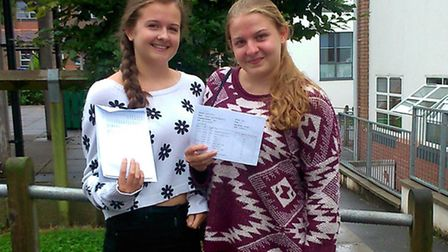 King's School students Becki and Ellie George will be celebrating their GCSE results