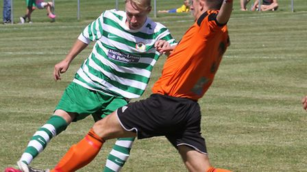 Sidmouth Town played Heathcote at the Manstone ground on Saturday. Ref shsp 7223-33-15SH. Picture: S
