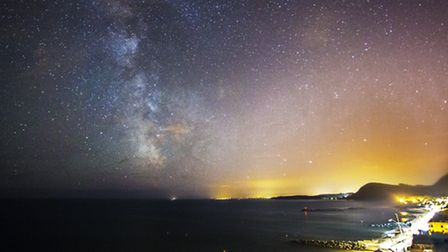Phil Watson's picture of the Milky Way over Sidmouth. You can see more of his pictures at www.philwa