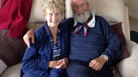 'These are precious days': Kingsley Squire and wife Monica.