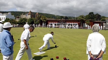 Sidmouth bowls club played host to the mixed fours tournament at the weekend. Ref shsp 0878-29-15TI.