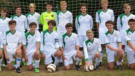 The Under-16s at the conclusion of the 2014/15 season. Back row; Fin Marks, Connor Murphy, Tyler We