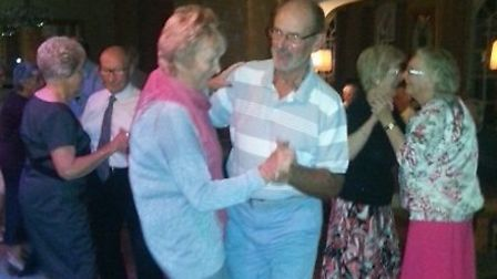 Sidmouth tour picture. Mary and Brian Smith on the dance floor
