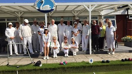 Sidmouth bowlers on tour