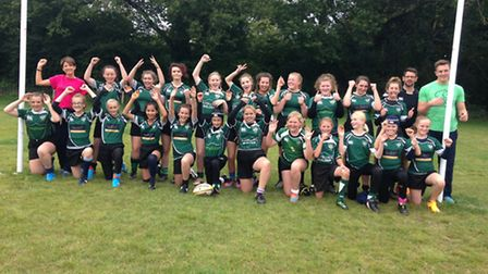 Sidmouth RFC girls team