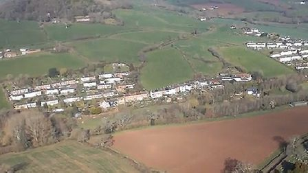 An aeriel photo of the site in Sidbury put forward for developed