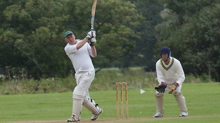 Tipton St John CC batsman Phil Tolley on his way to 96 against Yarcombe and Stockland