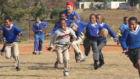 Tom and Will Counsell spent four weeks volunteering as Rugby coaches in Swaziland