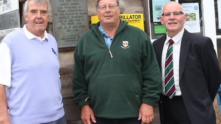 Chairman of the Sidmouth Cricket, Tennis and Croquet Club Neil Gamble (left) is pictured with ground