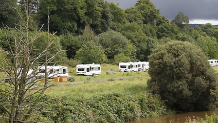 Travellers were camped on the privately owned Millenium Green in Ottery St Mary for several days las