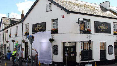 Filming at The Radway Inn begins for a new TV sitcom. Ref shs 8063-36-15AW. Picture: Alex Walton