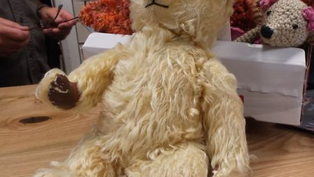 A vintage teddy donated to Jeannie and John's appeal