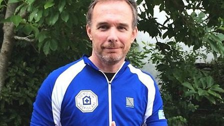 Adrian Snelgrove is cycling the Alpine Raid for Sidmouth Hospiscare