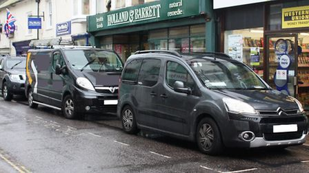 The loading bay in Fore Street is often full of parked cars
