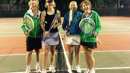 The Sidmouth ladies B team that has gained promotion
