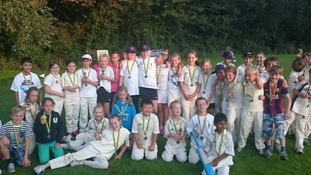The young cricketers that took part in the Sidbury CC Festival