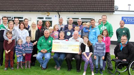 Sidmouth Town football club receive a £20000 grant from the Keith Owen Fund to help towards the new