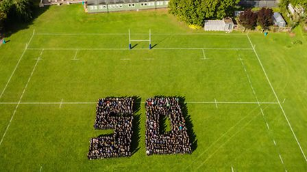 Photographer Neil Ewins took this stunning aerial shot celebrating the 50th anniversary of Sidmouth