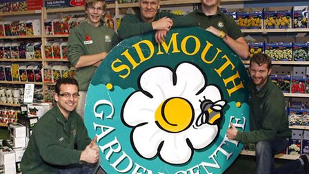 Sidmouth Garden Centre staff. Photo by Terry Ife ref shs 8131-44-13TI To order your copy of this pho