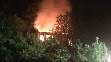 Fire in derelict Ottery building
