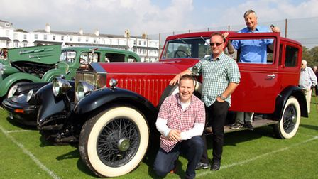A summer car rally was held at Sidmouth Cricket Club at the weekend. Mike Arscott, Steve Brownridge