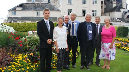 Sidmouth In Bloom judging took place at the weekend. Ref shs 3596-30-15AW. Picture: Alex Walton