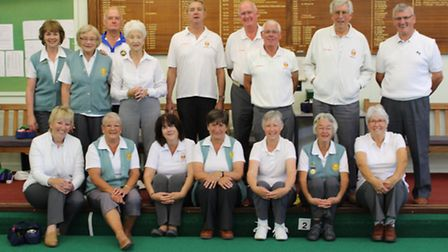 The annual indoor meeting between Sidmouth ladies and gents launches each new indoor season. Some of