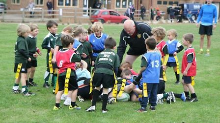 Sidmouth Under-7s in the Pullin Cup