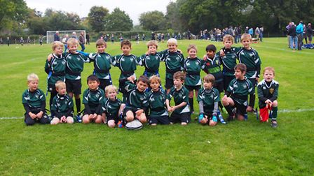 Sidmouth Under-8s team