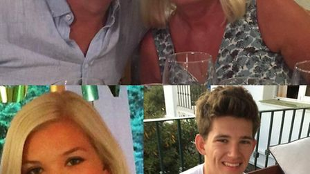 The victims: Phil Garvey, 56, his wife Ann, 55, their daughter Emily, 23, and their 20-year-old son