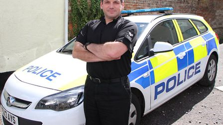 Sergeant Chris Leisk of Ottery's neighbourhood team. Picture by Alex Wlaton. Ref sho 1195-33-14AW