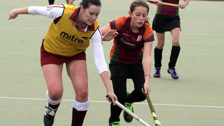 Sidmouth & Ottery ladies 2nd XI at home to Dawlish. Ref shsp 6044-46-15TI. Picture: Terry Ife