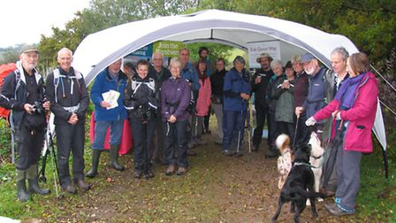 Residents braved the rain to take part in inaugural walk across Knapp Copse to launch one of 15 new