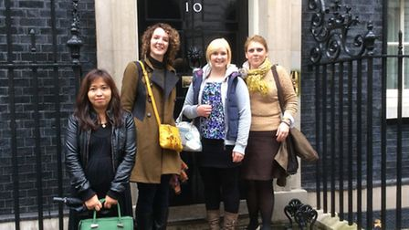 Florist Caitlin Anning was one of a small team summoned to Number 10 Downing Street to create flower
