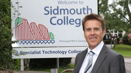 Sidmouth College principal Kenny Duncan. Photo by Simon Horn. Ref shs 4550-37-12SH To order your cop