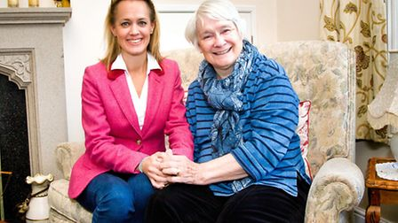 Emily Hall of West Hill with her mum, who inspired her to launch a new business to help elderly and