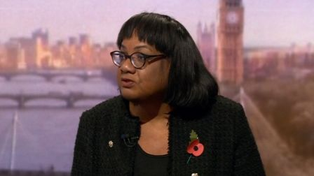 Diane Abbott speaking on BBC's The Andrew Marr show. Picture: BBC