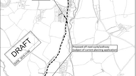 DCC's proposed cycling and walking route between Sidbury and Sidford