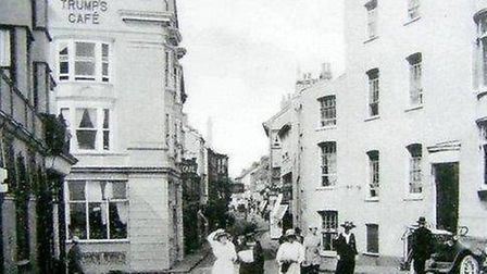 Sidmouth High Street back in the past.