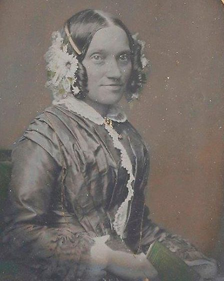 A photograph of Sarah Trump who married John Trump in 1836.