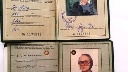 Two German ID cards were found in a safe in the wall of Dukes